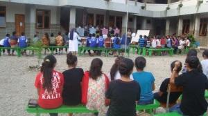 Peserta lomba baca dan kuis kitab suci tingkat SMA- SMK se Asrama Susteran SSpS Timor, Minggu (32)