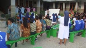 Peserta lomba baca dan kuis kitab suci tingkat SMA- SMK se Asrama Susteran SSpS Timor, Minggu (33)