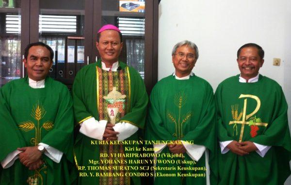 Anggota Kuria Keuskupan Tanjungkarang, Lampung. (Website Keuskupan Tanjungkarang)