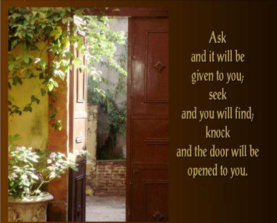 """Mat 7:7-12 """"Setiap orang yang meminta akan menerima."""""""